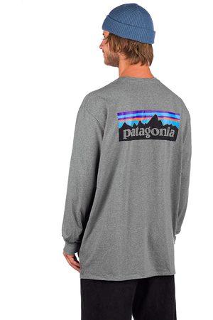 Patagonia P6 Logo Responsibili Long Sleeve T-Shirt gris