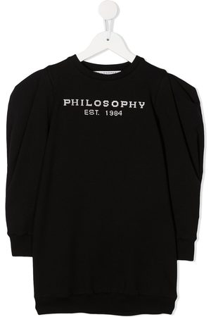 PHILOSOPHY DI LORENZO SERAFINI Jerséis y suéteres - Logo embroidered puff sleeves sweatshirt