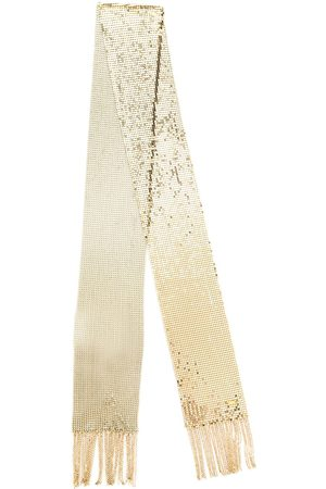 Saint Laurent Mujer Bufandas y Pañuelos - Thin fringed mesh scarf