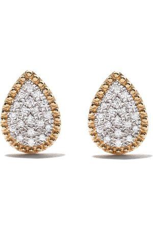 AS29 Pendientes Mye en oro amarillo de 18 kt con diamantes
