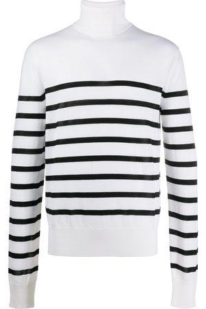 Balmain Striped rollneck jumper