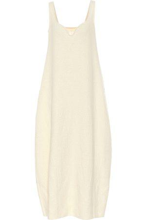 Jil Sander Vestido largo de algodón y lana