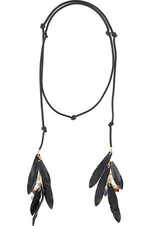 Dsquared2 Collar con apliques de plumas y cristales