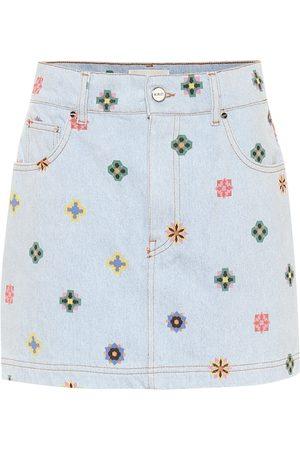 Kirin Minifalda de jeans estampada