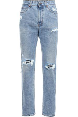 Gucci   Hombre Jeans De Denim De Algodón Desgastados 21cm 33