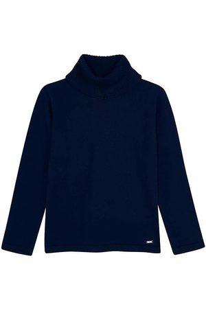 Mayoral Jersey Cisne tricot basico Marino para niña