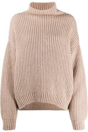 ANINE BING Jersey con cuello alzado oversize