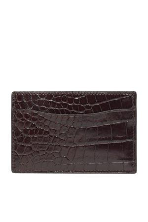 Ralph Lauren Portatarjetas de piel de caimán