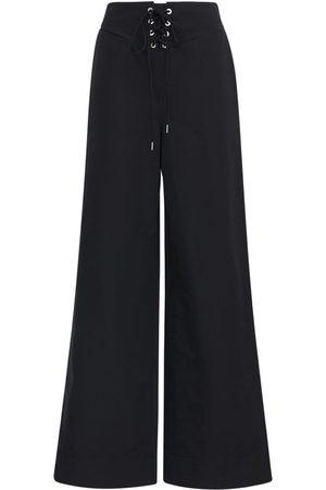 DION LEE   Mujer Pantalones Anchos De Nylon Y Algodón Xs