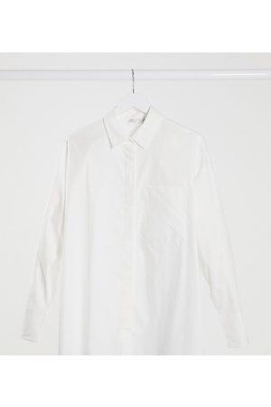 ASOS Camisa boyfriend de manga larga en algodón de Maternity