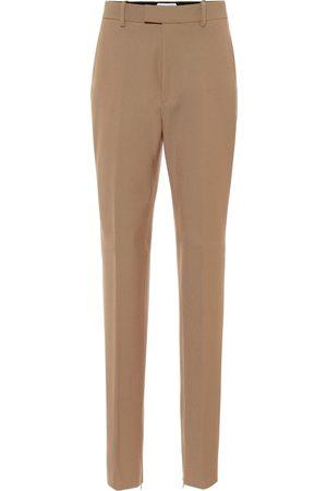 Bottega Veneta Pantalones ajustados mezcla de lana
