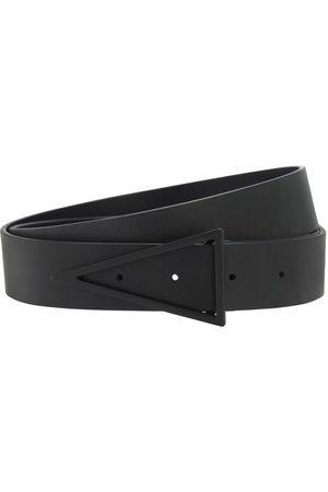 Bottega Veneta | Hombre Cinturón De Piel Con Hebilla Triangular 3cm 85