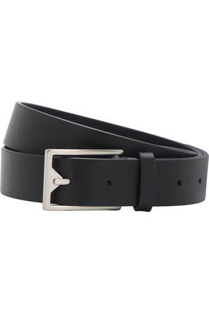 Bottega Veneta | Hombre Cinturón De Piel 3cm /plata 85
