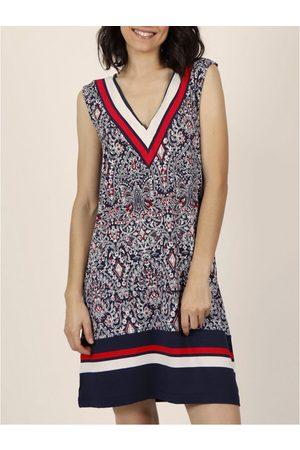 Admas Vestidos Vestido de verano sin mangas la Armada Estilo Almirante para mujer