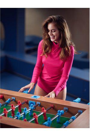 Lisca Blusa Disfruta de la camiseta manga larga con cuello alto Cheek para mujer