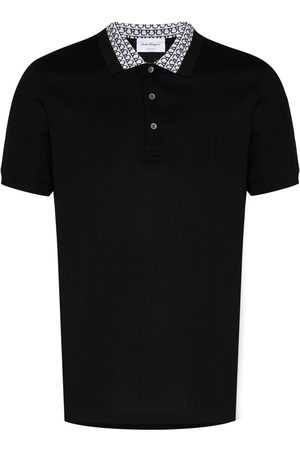 Salvatore Ferragamo Gancini collar cotton polo shirt