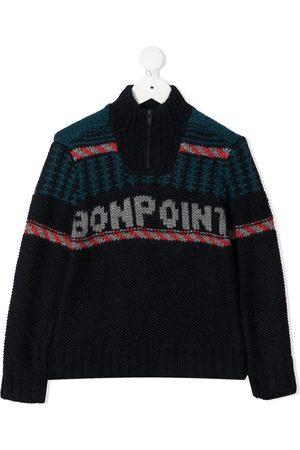 BONPOINT Jersey con logo bordado