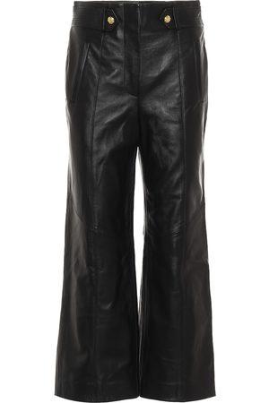 VERONICA BEARD Pantalones anchos Agee de piel