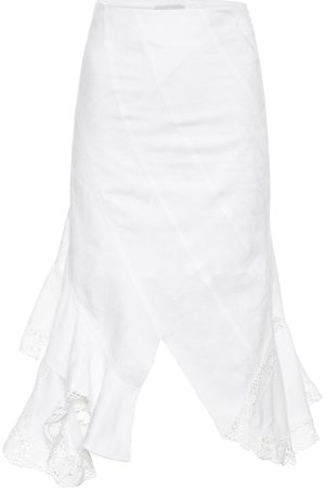 Marine Serre Falda midi de jacquard de algodón