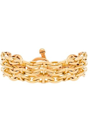 Brinker & Eliza Gold vermeil triple threat chain bracelet