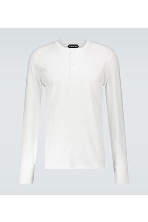 Tom Ford Camiseta Henley de manga larga
