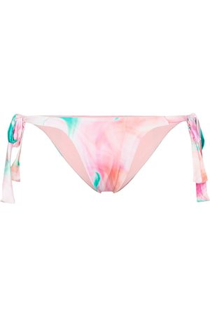 Frankies Bikinis Veronica abstract-print bikini bottom