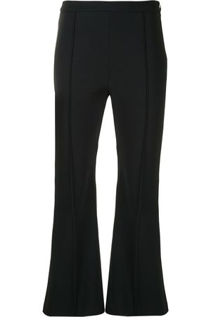 ADAM LIPPES Bonded flared leg trousers