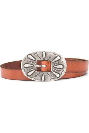 Polo Ralph Lauren Oversized arrow engraved buckle belt