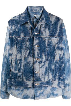 AMBUSH Bleached-effect layered denim jacket