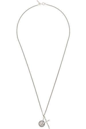 EMANUELE BICOCCHI Collar de cadena con colgante de calavera