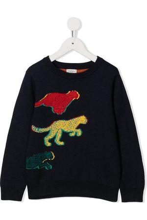 Paul Smith Intarsia knit leopard jumper