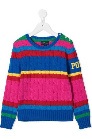 Ralph Lauren Bright stripe cable knit jumper