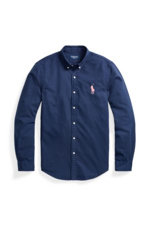 Polo Ralph Lauren Camisa Oxford Slim Fit Pink Pony