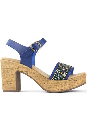 Oh!! Isabella Sandalias Fiorella Azzurro para mujer