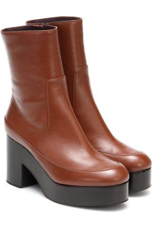 DRIES VAN NOTEN Mujer Botas y botín - Botines de piel de plataforma