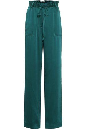 Tom Ford Pantalones anchos de satén