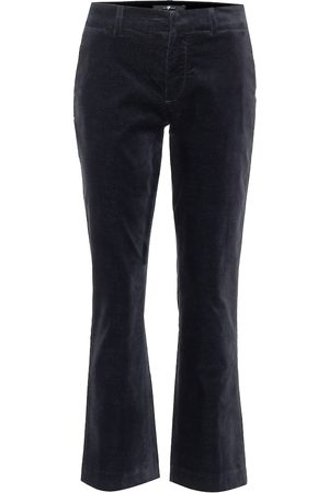 7 for all Mankind Pantalones cropped de terciopelo