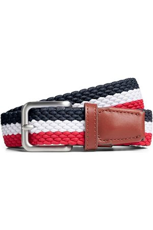 Jack & Jones Cinturón 12118114 JACSPRING WOVEN BELT NOOS STRIPE para hombre