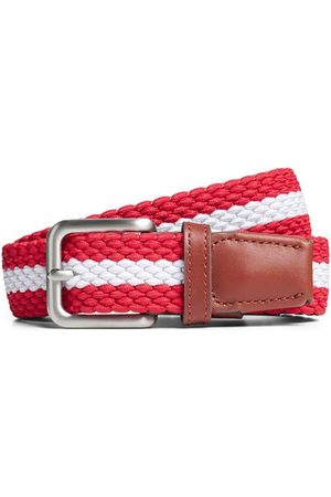 Jack & Jones Cinturón 12118114 JACSPRING WOVEN BELT NOOS STRIPE CHINESE RED para hombre