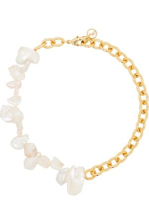 Anissa Kermiche Gold plated Two Faced Shelley pearl anklet