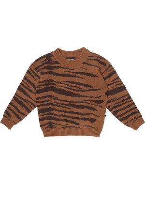 Mini Rodini Jersey de lana y algodón estampado