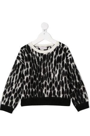 Moncler Brushed knit speckle print jumper