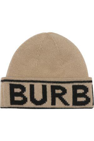 Burberry Gorro de cachemir con logo