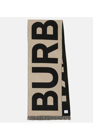 Burberry Bufanda de lana con logo