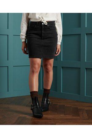 Superdry Minifalda de talle alto