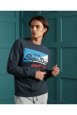 Superdry Sport Sudadera cepillada de cuello redondo con logo vintage Primary