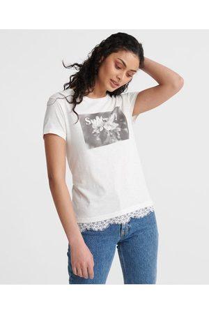Superdry Camiseta con gráfico y encaje Tilly