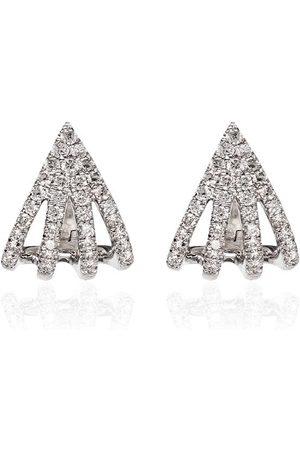 Dana Rebecca Designs Pendientes Sarah Leah en oro blanco de 14kt con diamantes