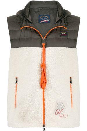 GREG LAUREN Hombre Chalecos - Chaleco con cremallera y diseño colour block