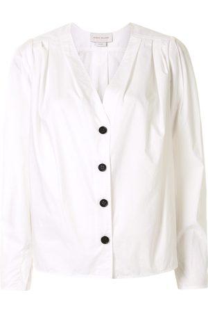 Karen Walker Mujer Camisas - Camisa Arboretum con cuello en V